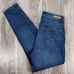Garage Premium Denim Size 05 Juniors Ultra High Rise Skinny Dark Wash Jeans